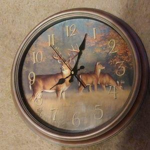 Clock. Deer